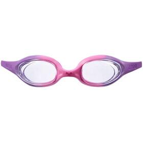 arena Spider Lunettes de protection Enfant, violet/clear/pink